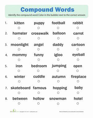 compound words quiz compound words spelling worksheets. Black Bedroom Furniture Sets. Home Design Ideas