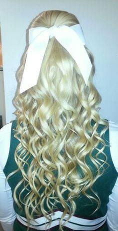 Cheer Hairstyles Half Up Half Down