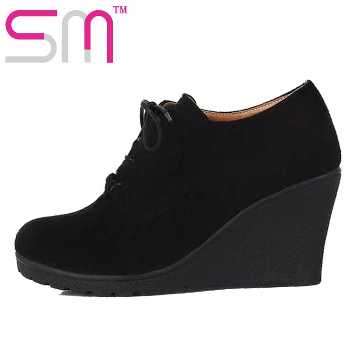 fashion high wedges lace up nubuck pu pumps increased heels summer office pumps shoes fashion spring pumps shoes alishoppbrasil