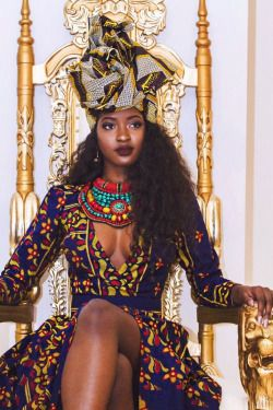 African Queen. ~DKK ~African fashion, Ankara, kitenge, African women dresses, African prints, African men's fashion, Nigerian style, Ghanaian fashion.