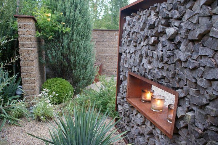 rost corten feuerstelle wanddekoration sichtschutz 5 holz lagern pinterest garten oder. Black Bedroom Furniture Sets. Home Design Ideas