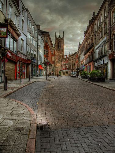 Iron gate, Derby Cathedral, Derbyshire, England, I use to work in this street way back 1975-1978