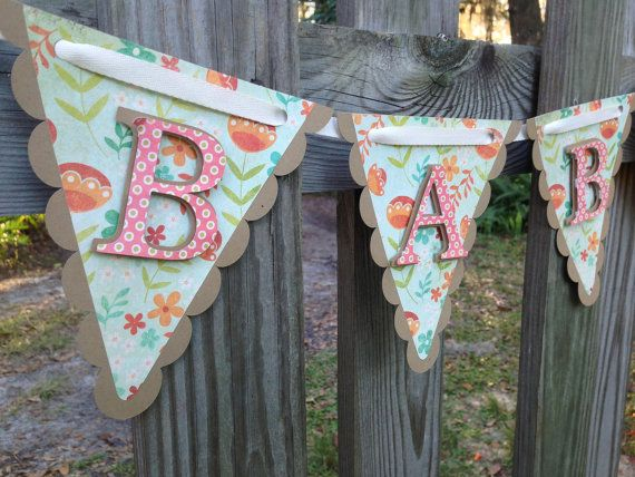Baby Banner  Floral Baby Shower Banner  by SharingAPassionINC, $22.00