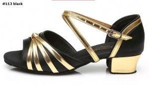 latin dance shoes #113 black