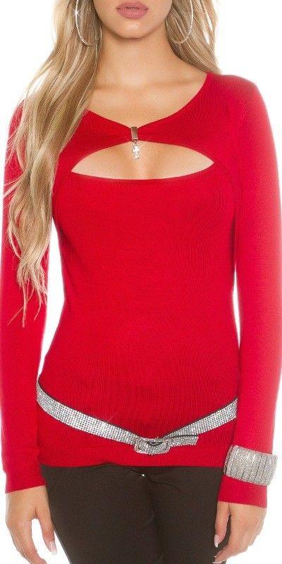 Dámský svetr s přívěskem