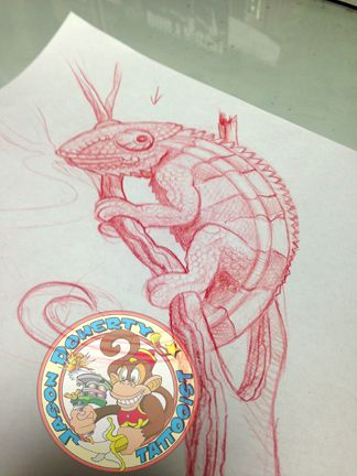 #cameleon  #tattoo #flash #sketch My name is #jason #doherty I am a #Professional #tattoo #artist #tattooist or #tattooer making #amazing #tattoos in #beautiful #Northwest near #Portland #Oregon #USA Whether it be #neotraditional #traditional #scrimshaw #tattoo #blackandgray #sailingship #linework or just a simple #japanese #kanji tattoo I try to do my best with EACH tattoo I do regardless of the size or cost.