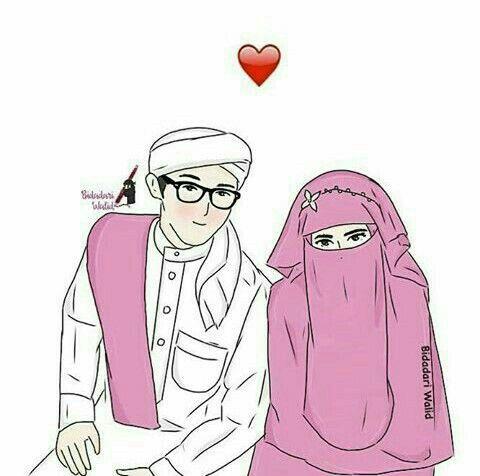 Pin oleh Ruqayyah Alrani di couple muslim art   Kartun ...