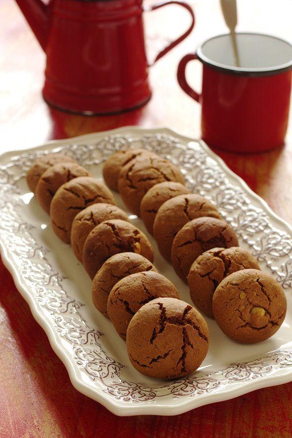 Biscoitos de leite condensado com chocolate e avelã  (180º|10m|formar bolas e achatar um pouco)