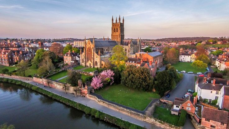 Worcester Cathedral on the banks of the River Severn, taken in Springtime. Chris Bright