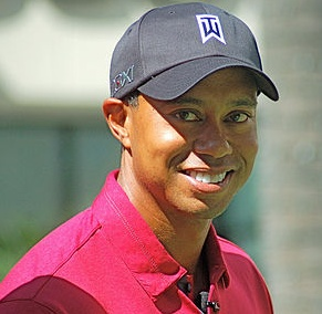 Remember the old Tiger Woods, you know, the young guy that was relaxed, confident, and had a sense of humor.  Here's a short video of those good old days.  http://socialmediabar.com/tiger-woods-humor