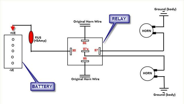 chevy horn relay wiring  wiring diagram wavesteela  wave