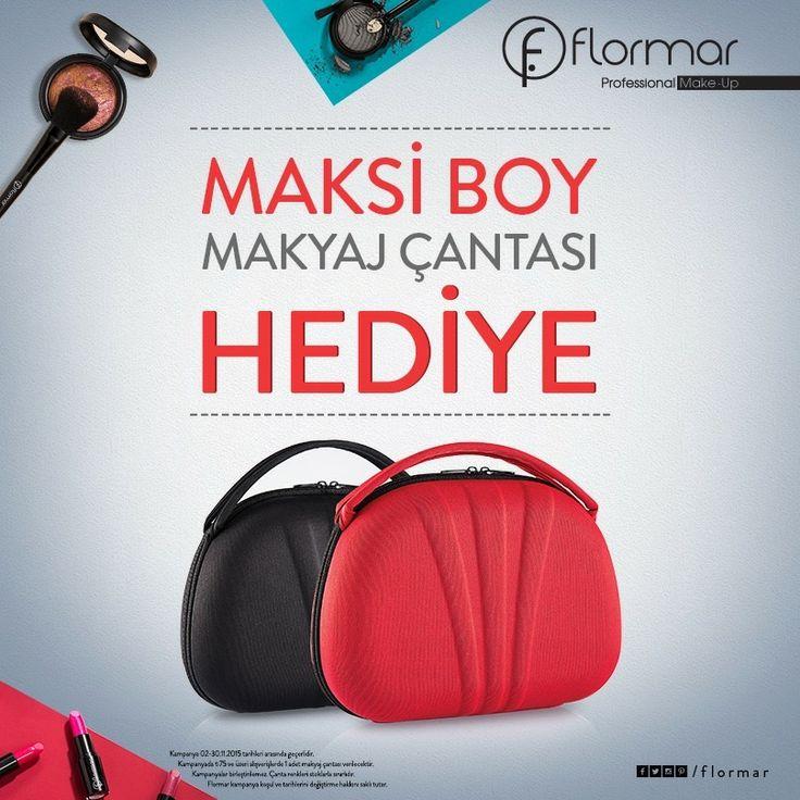 75 TL ve üzeri alışverişlerinizde maksi boy makyaj çantası hediye!  Flormar, #BeylikdüzüMigros AVM zemin katta.