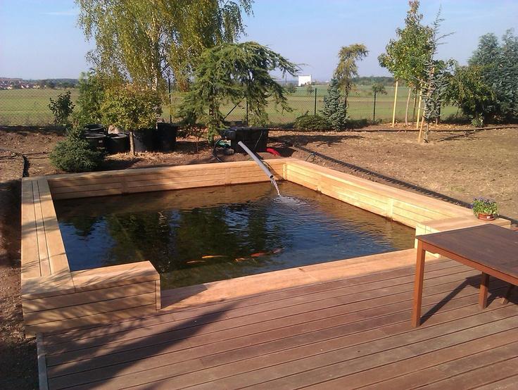 Obklad bazénu dub - Garden furniture Prag - Custom Woodworkes - www.stoho.cz
