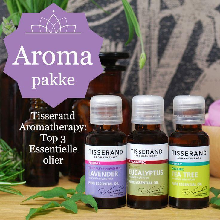 Startpakke med æteriske olier 3 x 10 ml - økologiske olier til aromaterapi - Mimie.dk