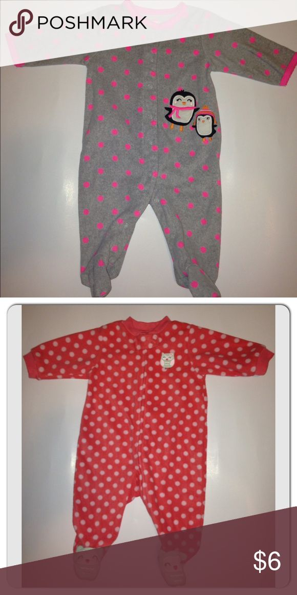 2 Carter's Baby girl bodysuit Gently worn Like new  No stains  Size: 3 months (both)  PLEASE CHECK OUT MY OTHER LISTINGS! Carter's One Pieces Bodysuits