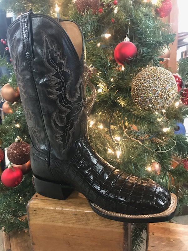 56240b984bc Mens Lucchese Black Caiman Belly & Smooth Ostrich in 2019 | Cool ...