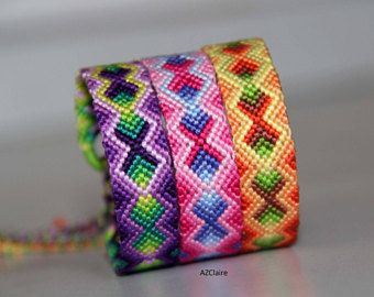 Bracelet brésilien dégradé de différentes couleurs