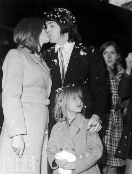 Paul and Linda McCartney on Their Wedding Day 1969