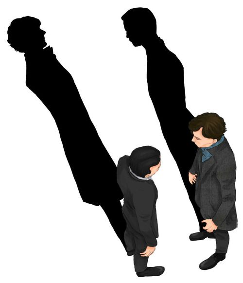 "Sherlock and Moriarty fan art - ""I am you."" This is genius."