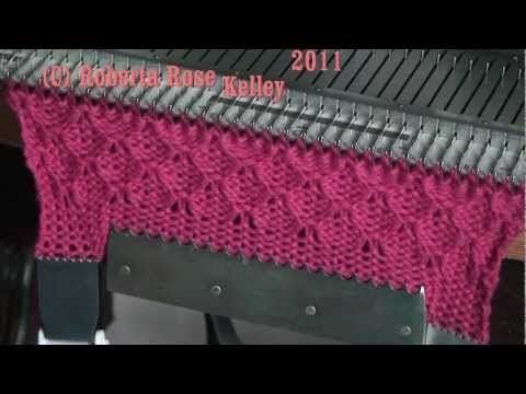 Patterning on the Singer SK155 knitting machine - YouTube