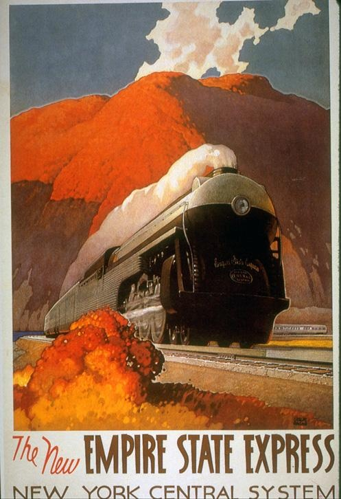 USA NEW YORK - #Vintage #Travel poster - The new Empire State Express | New York Central system