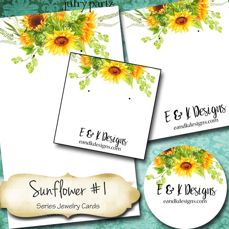 SUNFLOWER #1•Custom Tags•Labels•Earring Display•Clothing Tags•Custom Hang Tags•Boutique Card•Tags•Custom Tags•Custom Labels by JulryPartZ on Etsy