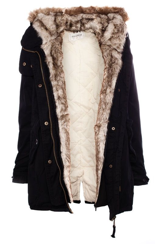 Black Womens Parka Coat