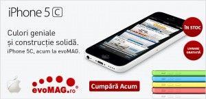 Nou!Telefon Mobil Apple iPhone 5C, Procesor Dual-core 1.3 GHz, LED-backlit IPS LCD 4″, 1GB RAM, 16GB Flash, 8MP, Wi-Fi, 4G, iOS 7.0 (Alb)