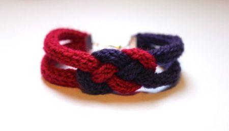 Bracelet noeud marin en tricotin ou corde