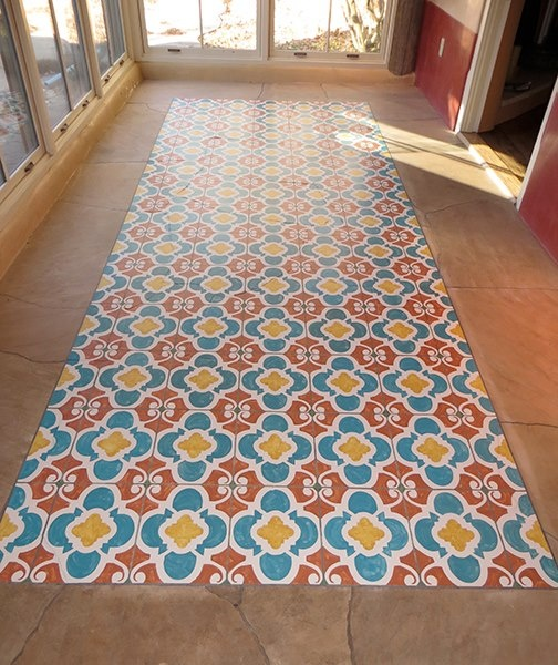 Floored! We ♥ how artist Pamela Platt used our Chez Ali Moroccan stencil to add pattern & color to an outdoor patio floor!   Royal Design Studio