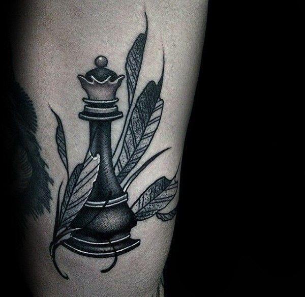 Chess piece tattoo