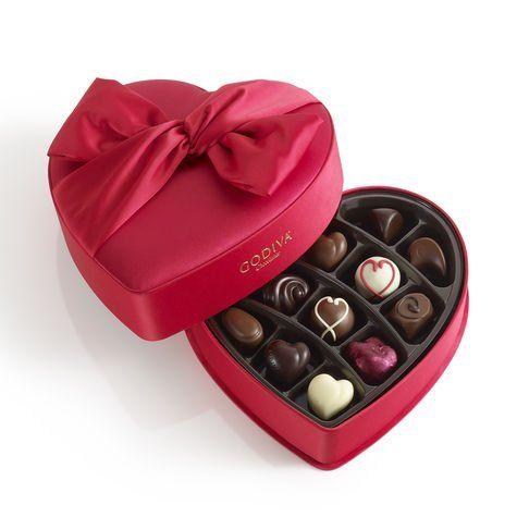 Godiva Valentine Heart Small Fabric 5.4oz