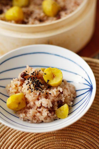 Japanese steamed mochi rice, Sekihan 赤飯