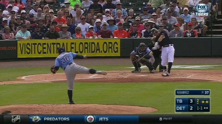 Kinsler's two-run double.  Wynton Bernard can flat out fly. Beat the wrap at first on ground ball DP attempt and then flew home from 1B on a double by Kinsler.  Ian Kinsler takes over the Grapefruit League RBI lead (10) from Bryan Holaday with 2-run double, plating Holaday and Wynton Bernard. 4-3 Tigers.