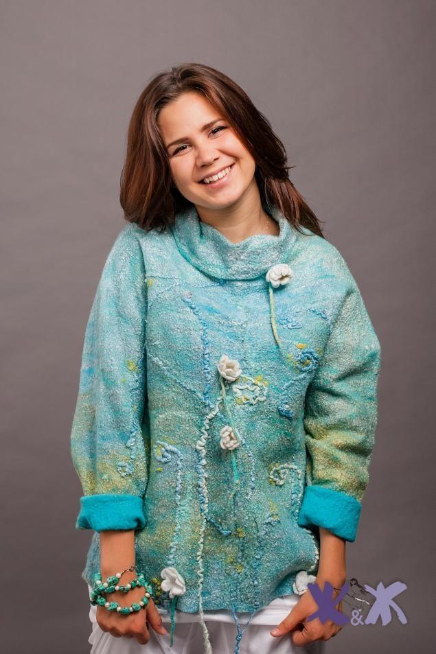 "Felted sweater / Новая коллекция ""Что сказал садовник?"" от Ж&Ж - Ярмарка Мастеров - ручная работа, handmade"