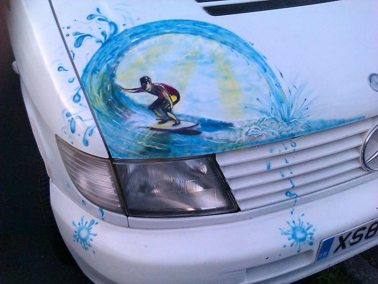 Surf art on my old camper van