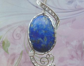 Blue Oregon Holley Agate Womens Pendant Necklace от EarthArtsNW