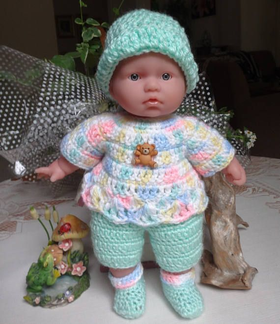 Clothes Crochet 11 Inch Berenguer La Baby Doll Newborn Pants Etsy In 2020 Baby Doll Clothes Crochet Baby Dolls