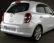Nissan Micra (March) 2011 3d model