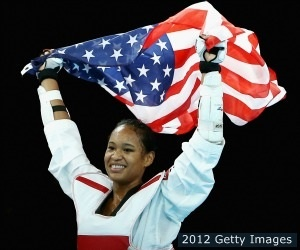 Paige McPherson - US Olympic taekwondo, leaves London with a bronze medal.