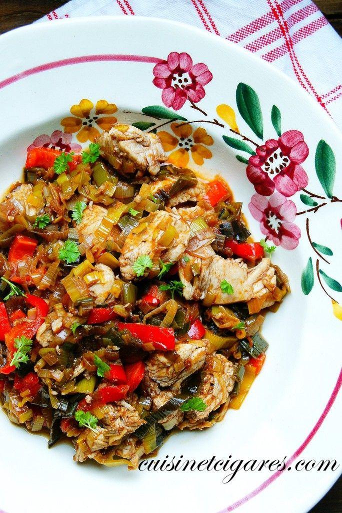 Kavarma cocotte de poulet aux l gumes un plat de sofia for Decoration de plat avec des legumes