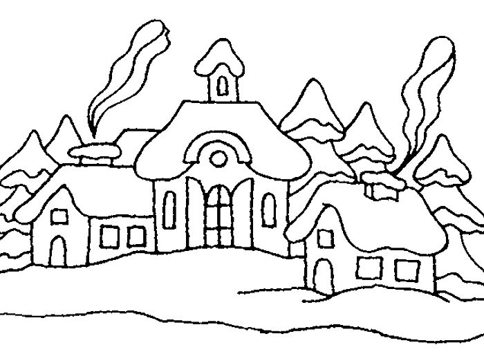 zimní vesnička