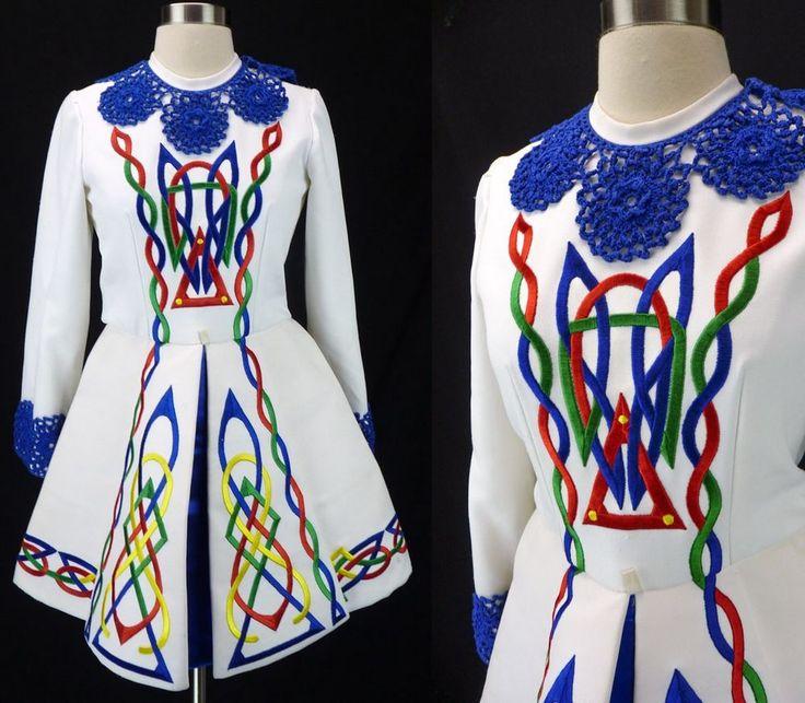 Vintage Fancy Rainbow Embroidered Band MAJORETTE Drum Major Uniform Dress (S) #Handmade #Dress