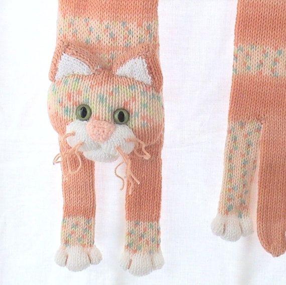 Punto niños bufanda bufanda de Animal gato bufanda tejer