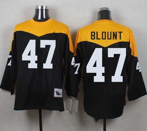 mitchell and ness 1967 steelers 47 mel blount black yelllow throwback mens stitched nfl