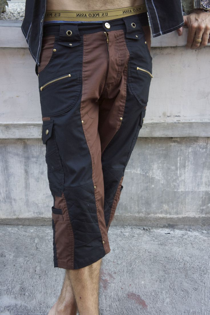SoulPath fashion https://www.soulpathstore.com/  Mens Flower of life pants-3/4 length pants- Comfort fit with many pocket - Burning man gear-175.00