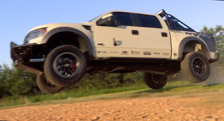Jumping a custom Ford Raptor