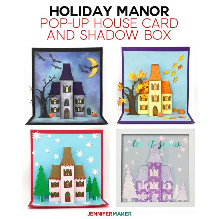 Make Pop Up House Cards For Halloween Autumn And Christmas Jennifer Maker House Of Cards Japanese Paper Lanterns Pop Up Cards