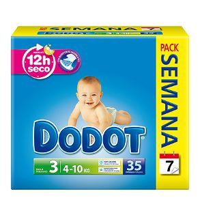 Lo mejor para mi Bebé: Pañales Dodot 3D T3 ( 4-10 Kg ) 35 uds 9,40€