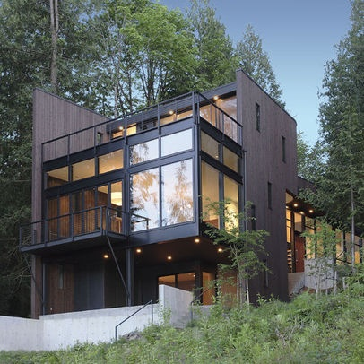 Modern Exterior Flat Roof Design Ideas, Pictures, Remodel And Decor